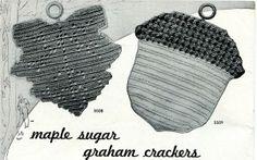 Acorn and leaf potholders to crochet