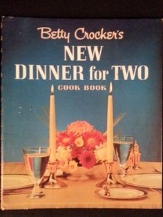 Listed is the highly collectible DINNER FOR TWO by Betty Crocker. There is normal shelf wear to the spiral hardcover. The inside pages are clean, with
