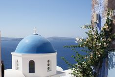 Greece, Santorini, Church, Island, Blue, Oia