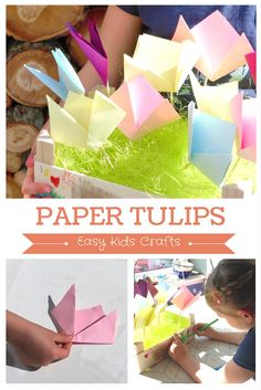 Paper Tulips - Easy Kids Crafts