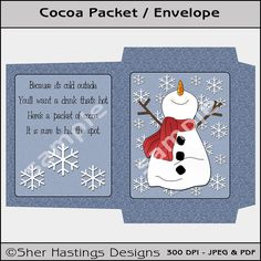 Hot Chocolate Envelope for Gift Baskets