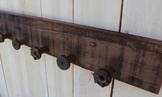 reclaimed wood hooks | Reclaimed Wood - Coat Rack - Rustic Shabby Cottage - Wall Hanging ...