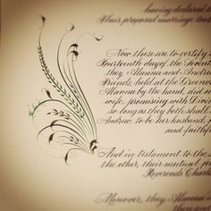 Quaker wedding certificate
