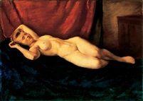 Fekvö akt 1917 oil on canvas 70 x 100,5 cm