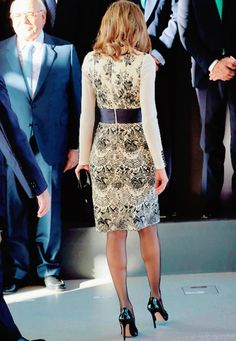"""Queen Letizia during the delivery of the """"Magistral Action 2017"""" award"""