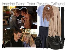 """""""Imagine Being Peter Parker's Girlfriend"""" by xdr-bieberx ❤ liked on Polyvore featuring Karen Walker, Madewell, Alessi and Lord & Berry"""