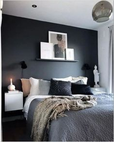 Wohnungsdekoration Ideas for bedrooms in the basement (remodeling and decoration ideas on a small bu Dream Bedroom, Bedroom Wall, Bedroom Decor, Wall Decor, Bed Room, White Bedroom, Bedroom Kids, Bedroom Apartment, Room Boys