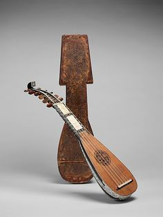 Mandolino, ca.1710, Italy, Spruce, ebony, ivory, mother-of-pearl. The Metropolitan Museum of Art