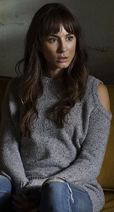 Spencer's grey cold shoulder sweater on Pretty Little Liars.  Outfit Details: https://wornontv.net/59235/ #PLL