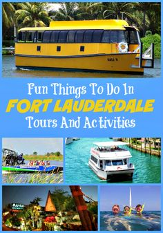 Top fun things to do in Fort Lauderdale on vacation - Day Trips Canal Cruises and Boat Tours Polynesian Dinner Show Segway Key West Grand Bahamas and more activities and tours Visit Florida, Florida Vacation, Florida Travel, Cruise Vacation, South Florida, Vacation Spots, Florida Living, Vacation Places, Vacation Trips