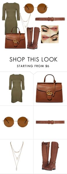 """""""Pulling Apart"""" by robynfanti ❤ liked on Polyvore featuring мода, Topshop, Gucci, Forever 21, Dorothy Perkins, Wet Seal и Naturalizer"""