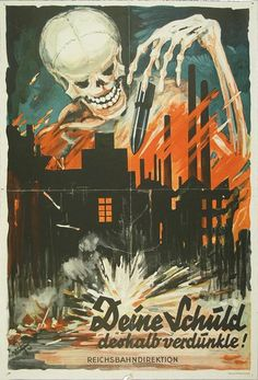 Deine Schuld, deshalb verdunkle!, Reichsbahndirektion Karlsruhe 1941