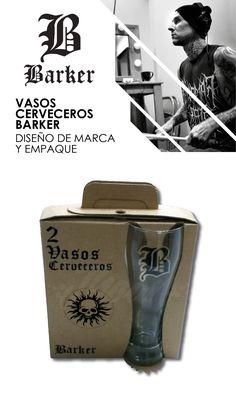 Diseño de empaque para vasos cerveceros y un par de baquetas como regalo.  La propuesta académica se realiza sobre cartón reciclado y utiliza solo una tinta.