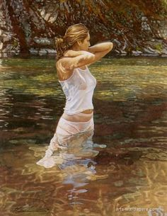 Steve Hanks the master in realism watercolor painting