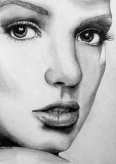Britney Spears drawing. $60.00, via Etsy.