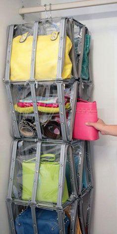 cmo organizar tus bolsos organizacin armario pinterest posts