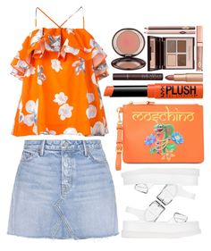 """""""street style"""" by ecem1 ❤ liked on Polyvore featuring MSGM, GRLFRND, STELLA McCARTNEY, Moschino, NYX and Charlotte Tilbury"""