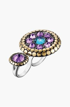 John Hardy 'Dot' Double Finger Ring | Nordstrom -