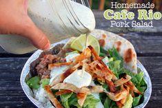 Copy Cat Cafe Rio Pork Salad Recipes + Mexican Chocolate Cake