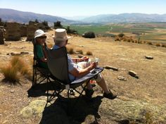 Taking your taste buds on an outing with a fine Central Otago wine. There could be no better a place on a hot summer's day than views overlooking Bendigo, Central Otago