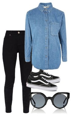 """#226"" by mintgreenb on Polyvore featuring Ted Baker, Topshop, Vans and Fendi"