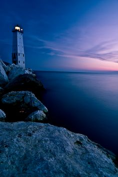 Frankfort Lighthouse, Michigan, United States-  one of my favorite lighthouse memories, sailing with my parents on Lake Michigan