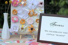 vintage-y fabric flower