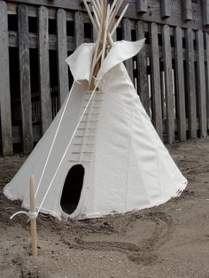 Real 18 Crow Tipi Tepee Teepee with poles, rope kit, and setup instructions - LIMITED EDITION. $215.00, via Etsy.