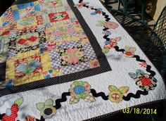 A quilting friend brought a visitor over to see my quilts. The visitor had owned a yarn shop so you know she has appreciation for the fabri. Old Quilts, Vintage Quilts, Baby Quilts, Scrappy Quilts, Panel Quilts, Quilt Blocks, Quilting Projects, Sewing Projects, Quilting Ideas