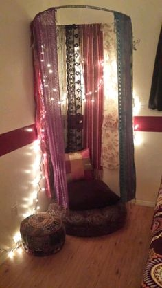 Personal inside meditation space or maybe a reading nook!