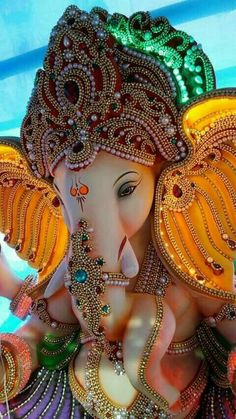 Make this Ganesha Chathurthi 2020 special with rituals and ceremonies. Lord Ganesha is a powerful god that removes Hurdles, grants Wealth, Knowledge & Wisdom. Jai Ganesh, Ganesh Lord, Ganesh Idol, Shree Ganesh, Lord Krishna, Krishna Hindu, Ganesh Statue, Radhe Krishna, Lord Shiva