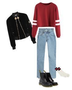 """""""Untitled #17"""" by luckycharmz-mee on Polyvore featuring Vetements, Givenchy, Gucci and Dr. Martens"""