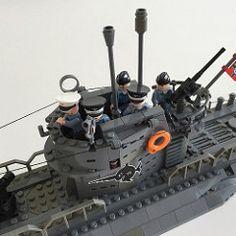 German Wolfpack Submarine Lego Ww2, Lego Submarine, Lego Indiana Jones, Lego Ship, All Lego, Cool Lego Creations, Lego Models, Lego Projects, Custom Lego