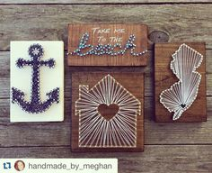 Couldn't be more excited to restock on these beauties by @handmade_by_meghan before the block party tomorrow!!! Stop by the shop early these babies are going to sell quick!!  @offshore4life @kristinaburghart @sea.and.sanctuary @iloveocnj @bestofocnj  #Repost @handmade_by_meghan  Four new pieces headed to @peaceofwoodocnj tomorrow just in time for the block party this weekend! If you're in OC be sure to head to Asbury on Saturday to shop local artwork and other cool stuff! These items are…