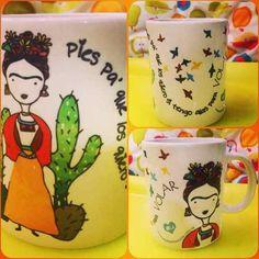 Hermosas Tazas De Frida Kahlo, Diseño Único!