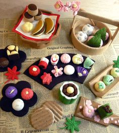 felt japanese sweets