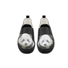 Panda Bear Apus Slip-on Microfiber Women's Shoes. FREE Shipping. FREE Returns. #sneakers #panda