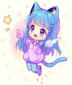 Chibi 204 49 Best Of [ Video] Mission to the Stars by Hyanna Natsu On Anime Neko, Kawaii Anime Girl, Chibi Kawaii, Cute Anime Chibi, Manga Anime, Anime Art, Anime Girls, Neko Cat, Cat Cat