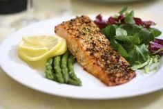 Using the TLC Diet to Lower Your Lipids Salmon Recipes, Fish Recipes, Healthy Recipes, Healthy Dinners, Baked Perch Recipes, Ocean Perch Recipes, Vegetarian Recipes, Advocare Recipes, Fast Meals