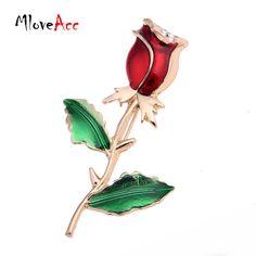 MloveAcc Декоративные Одежды Платье Аксессуары Свадебные Роскошные Эмаль Цветок Розы Броши Булавки для Женщин