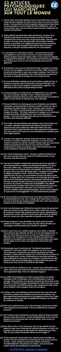23 Astuces Psychologiques Qui Marchent Sur TOUT LE MONDE.