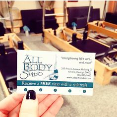 Have you heard about our amazing new offer at #allbodystudio? Refer five friends and you get a free class! Bring all of your people to our core building and muscle lengthening fitness parties! Come in and pick up your card today. #pilates #abs #namaste #zumba #promo #fitnessfriends