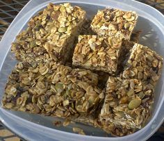 Nutritious delicious granola bars -- and easy to make