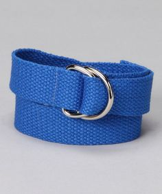 Take a look at this Blazin' Blue D-Ring Belt by Hero Huggers on #zulily today!
