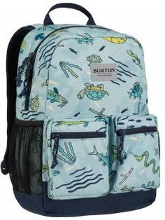 Kinderrucksack Burton Gone Fishin KD Gromlet Pack blau,bunte Fis Nylons, Suits You, School Bags, Snowboard, Bag Accessories, Children, Kids, Backpacks, Burton Kids
