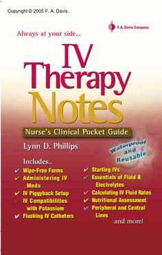 davis-iv-therapy-notes-nurse-clinical-pocket-guide by PrettyLady87  via Slideshare