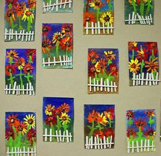 Photos and descriptions of student art projects being created by Kindergarten th . Photos and descriptions of student art projects being created by Kindergarten through grade students at Raymond Central Elementary School. Spring Art Projects, Spring Crafts, Projects For Kids, School Projects, Garden Projects, Kindergarten Art Projects, Kindergarten Photos, Classe D'art, Art Floral