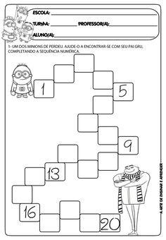 Brojevi do 20 Kindergarten Math Worksheets, Preschool Learning Activities, Teaching Math, Preschool Activities, Writing Numbers, Math Numbers, Math For Kids, Math Lessons, Math Centers