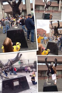 All of my pictures with the Bobby Orr statue at TD Garden. A family friend is getting this signed for me! Bobby Orr, Td Garden, Friends Family, Hockey, Times Square, Statue, Pictures, Travel, Photos