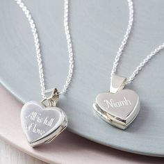Personalised Sterling Silver Heart Locket Necklace. It is stylishly simple and will be a present that can be worn forever as a really treasured piece of jewellery.